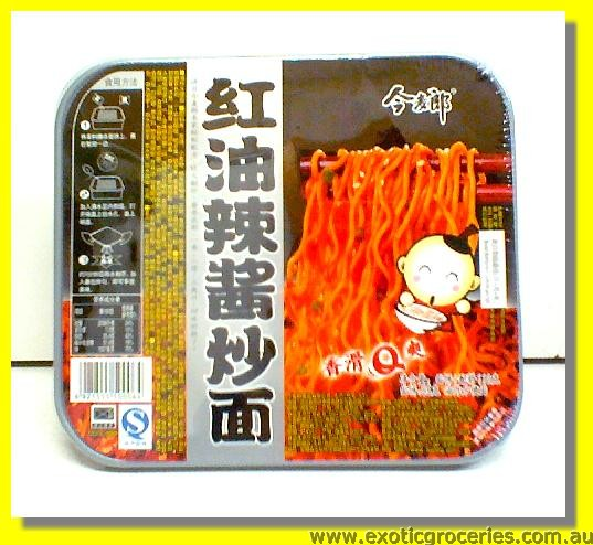 Instant Chow Mien Red Oil Spicy Sauce
