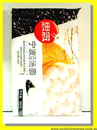 White Pearls Black Sesame Rice Ball