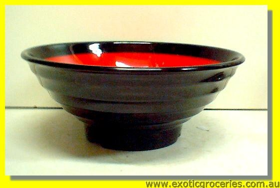 Red Black Bowl 8""