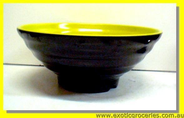 Green Black Bowl 8.75""