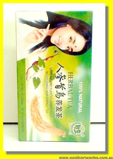 Ginseng & Fleeceflower Root Nourishing Hair Darkly Tea 20teabags