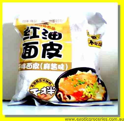 Broad Noodle Chilli Oil Flavour with Sesame Paste