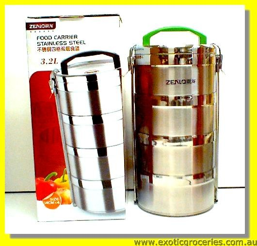 Stainless Steel Food Carrier 4tiers 3.2L