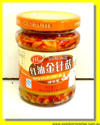 Preserved Enoki Mushroom in Chilli Oil