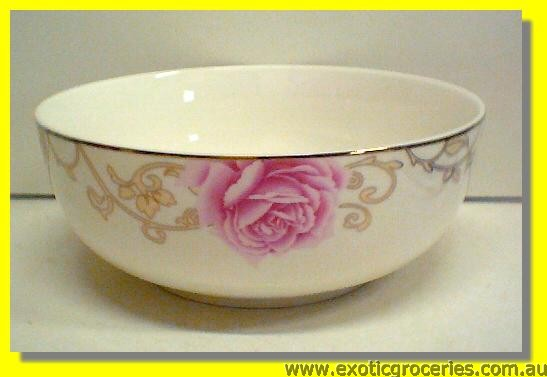 Ceramic Rose Bowl 8""