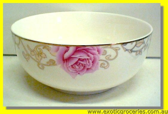Ceramic Rose Bowl 7""