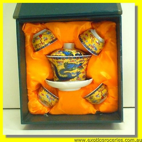 Chinese Tea Cup Set 5pcs H606