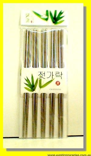 Stainless Steel Chopsticks 5pairs