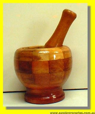 Wooden Mortar and Pestle 4''