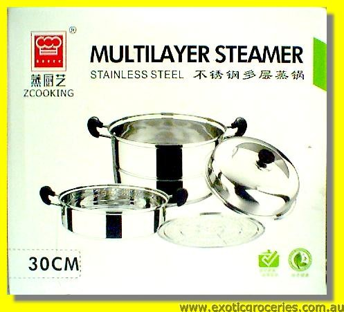 Stainless Steel 2 Tier Steamer 30cm