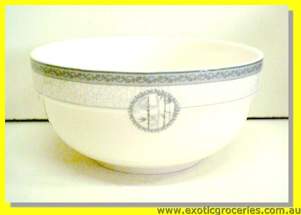 "Ceramic Bowl Grey Bamboo 8"" (A17/ #9198)"