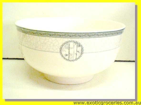 "Ceramic Bowl Grey Bamboo 4.5"" (A11)"