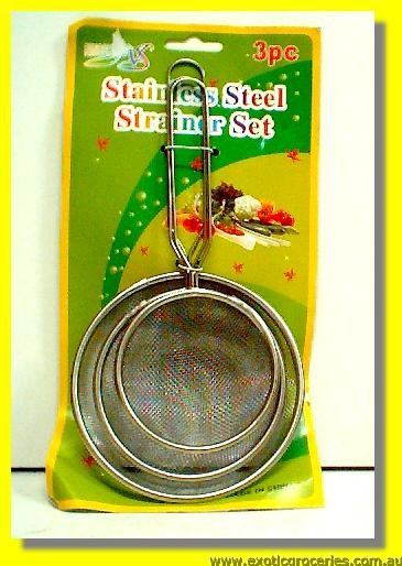 Stainless Steel Strainers 3pcs Set Small