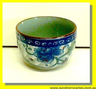 "Ceramic Blue Floral Tea Cup 2.5"" B171"
