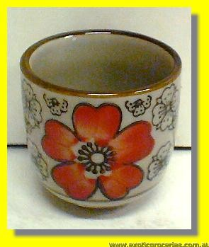 Red Blossom Sake Cup H187