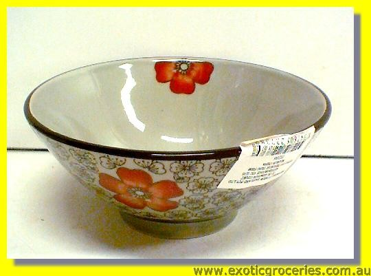 Japanese Style Red Blossom Bowl 5.5""