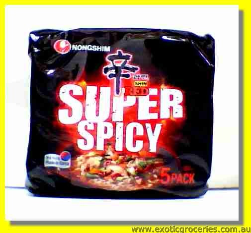 Shin Red Super Spicy Noodle 5packs
