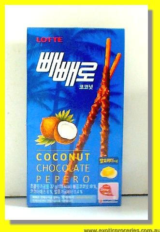 Coconut Chocolate Pepero Biscuit Sticks