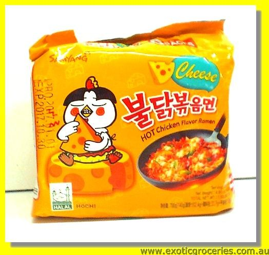 Hot Chicken Flavour Ramen with Cheese 5pkts
