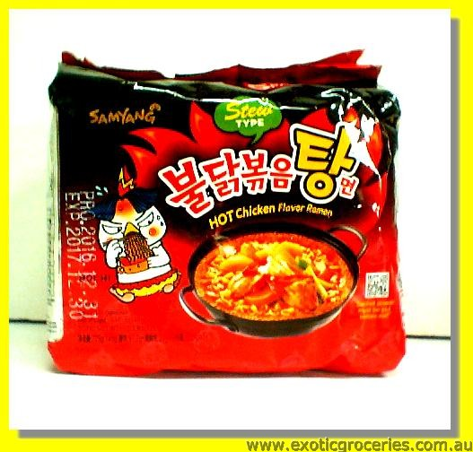 Hot Chicken Flavour Ramen with Soup 5pkts (Stew Type)
