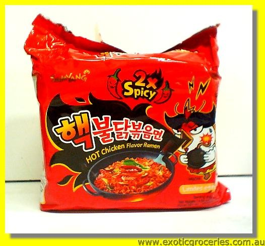 Hot Chicken Flavour Ramen Double Spicy 5pkts