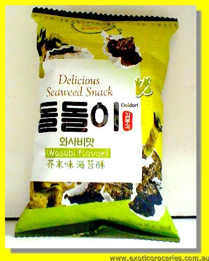 Delicious Seaweed Snack Wasabi Flavour