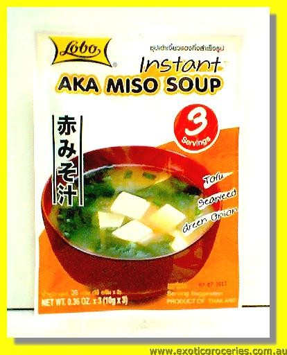 Instant Aka Miso Soup 3 Servings