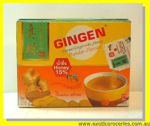 Instant Ginger Tea with Honey 12 sachets