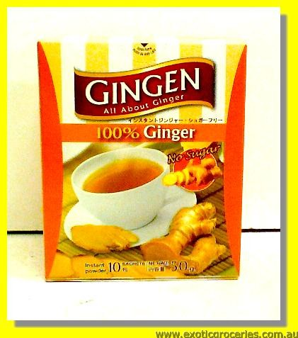 100% Ginger Drink Powder (No Sugar) 10sachets