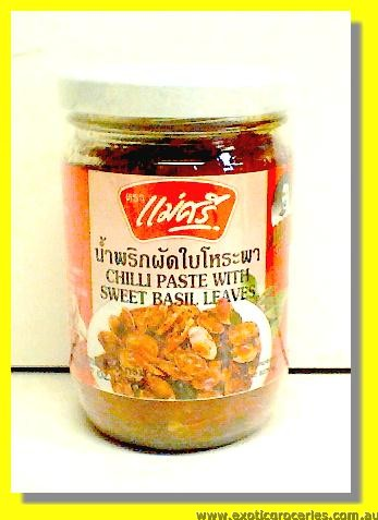 Chilli Paste With Sweet Basil Leaves