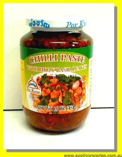 Chilli Paste with Holy Basil Leaves