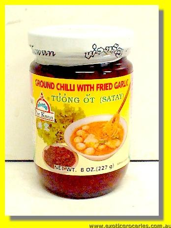 Ground Chilli with Fried Garlic Satay Sauce