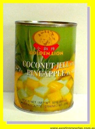 Coconut Jell with Pineapple in Syrup