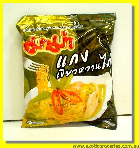 Instant Noodle Chicken Green Curry Flavour
