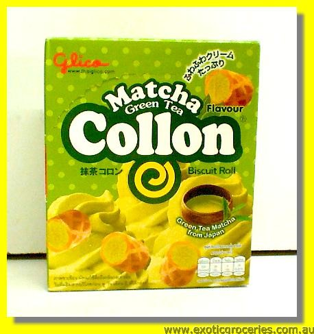 Collon Matcha Green Tea Flavour Biscuit Rolls