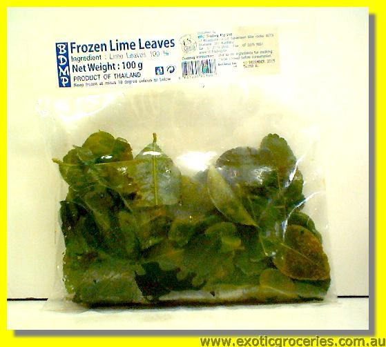 Frozen Lime Leaves