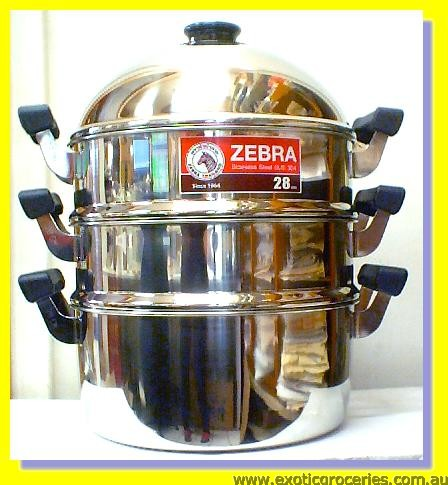 Stainless Steel Pot with Steamer (SUS304) 28cm 4pcs