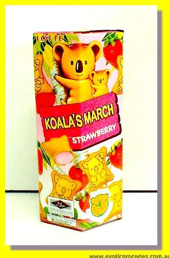 Koala's March Strawberry Snack
