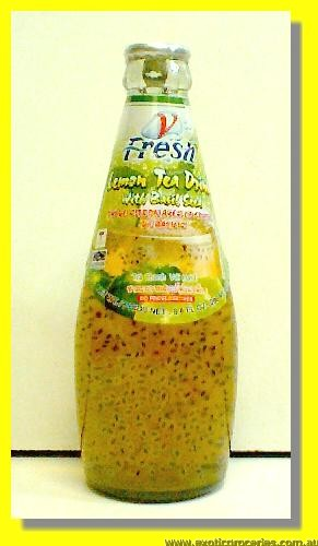 Lemon Tea Drink with Basil Seed