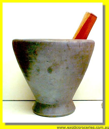 Laos Mortar with Pestle 9""