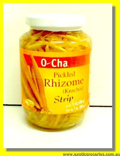 Pickled Rhizome Krachai Strips