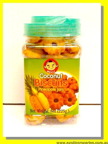 Coconut Biscuits with Pineapple Jam