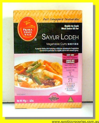 Sayur Lodeh Vegetable Curry Ready Sauce Kit