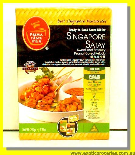 Ready to Cook Sauce Kit for Singapore Satay