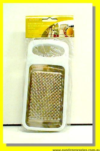 Stainless Steel Grater with Holder