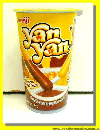 Yan Yan Chocolate & Banana Cream Dip Biscuit Snack