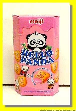 Hello Panda Biscuits with Strawberry Flavoured Filling