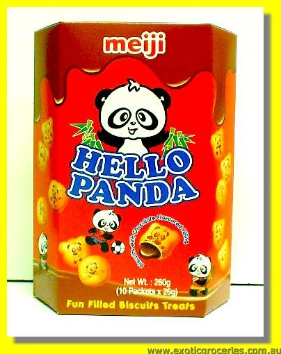 Hello Panda Biscuits with Chocolate Flavoured Filling 10packs