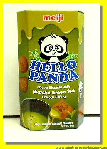 Hello Panda Cocoa Biscuits with Matcha Green Tea Cream Fillings
