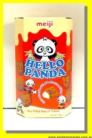 Hello Panda Cocoa Biscuits with Milk Flavoured Filling